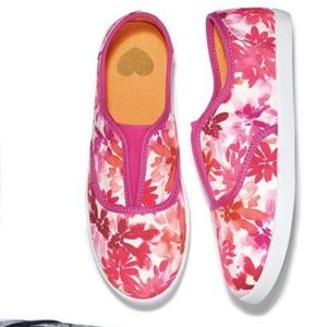CRAZY FOR FLORAL PRINTS SLIP ON SNEAKERS